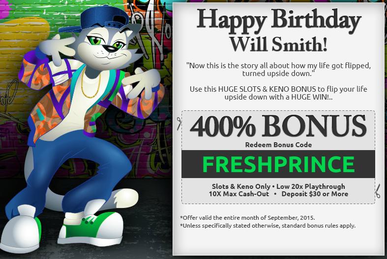 Cool Cat Casino Bonus September 25th