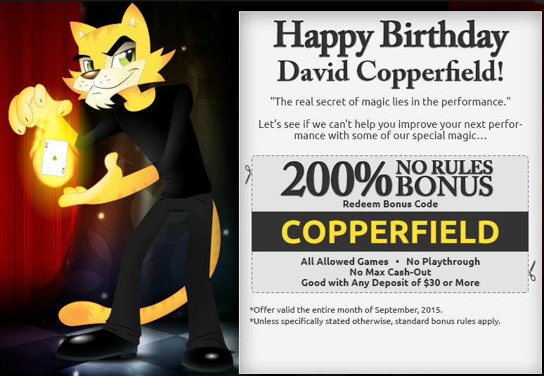 Cool Cat Casino Bonus September 16th