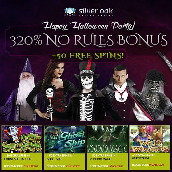 Silver Oak Casino Halloween Bonuses
