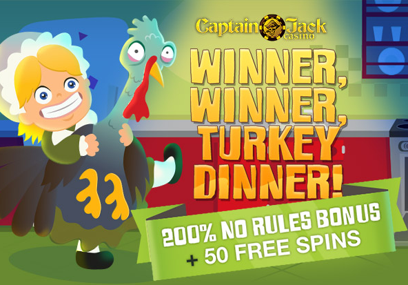 Captain Jack Casino Thanksgiving Bonus