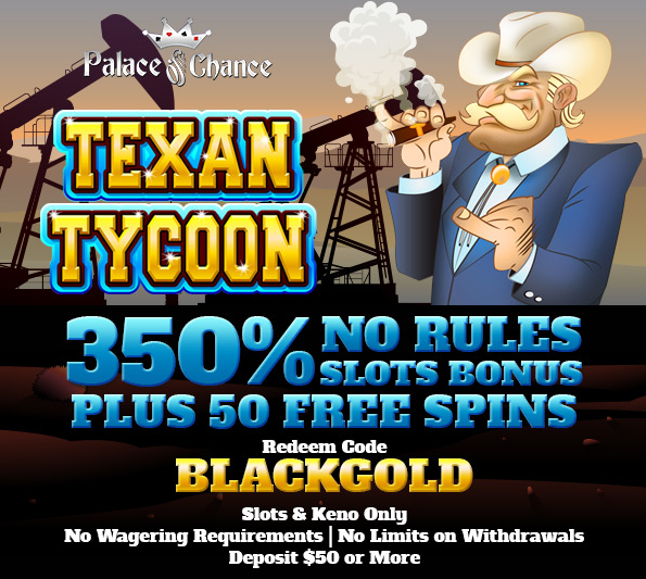 Palace of Chance Casino Texan Tycoon Slot Bonus