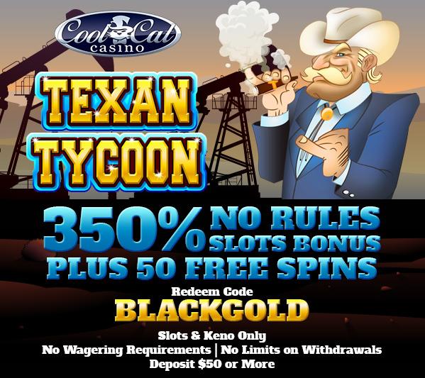 Texan Tycoon Slot Bonuses Cool Cat Casino