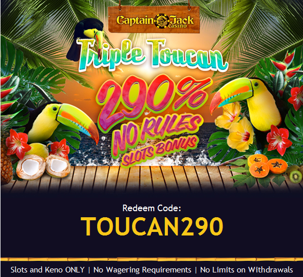 Triple Toucan Slot Match Bonus Captain Jack Casino