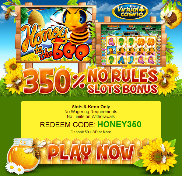 Virtual Casino Honey to the Bee Slot No Rules Bonus