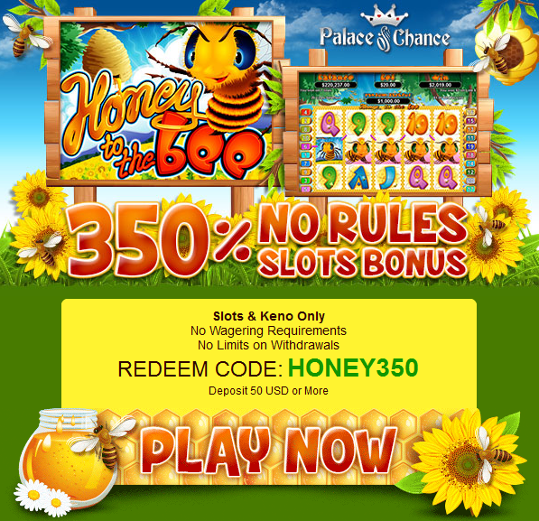 Honey to the Bee Slot Bonus Palace of Chance Casino