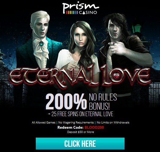 Eternal Love Slot No Rules Bonus Plus Free Spins Prism Casino