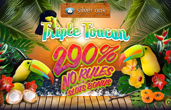 Silver Oak Casino Triple Toucan Slot Bonus
