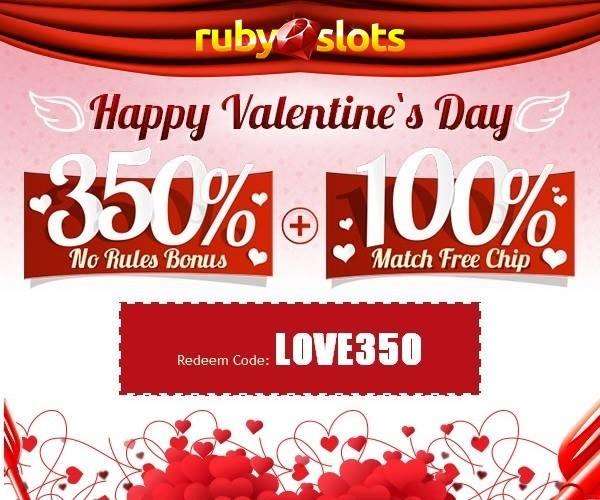 Ruby Slots Casino Valentines Day Bonuses