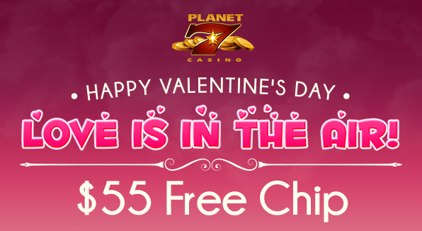 Valentines Day Free Chip Planet 7 Casino