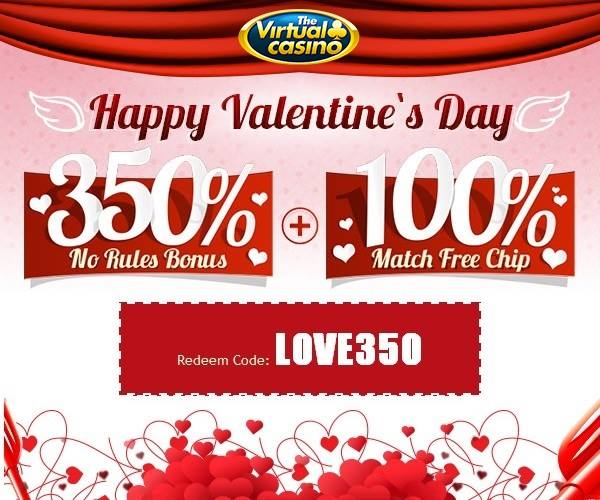 Valentines Day Bonuses Virtual Casino