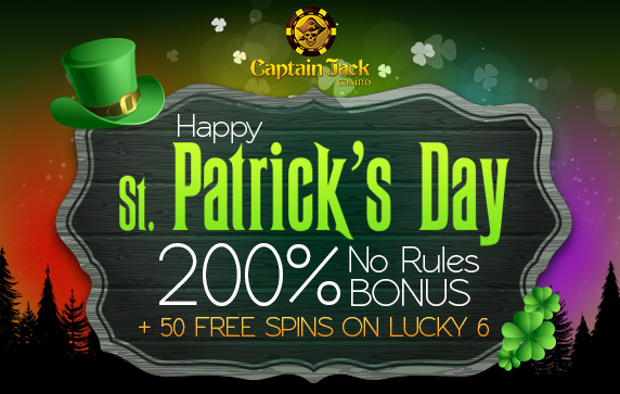 Captain Jack Casino St. Patrick's Day Bonuses